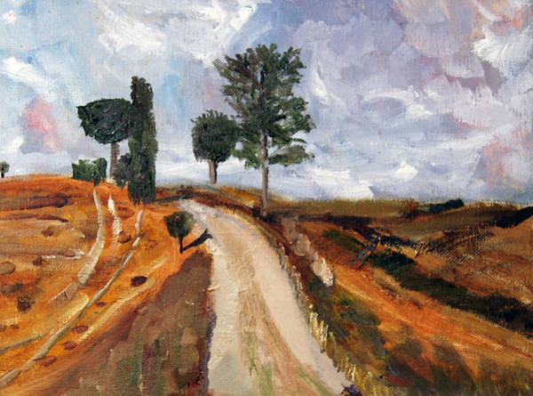 Painting - Tuscan Road by Michael Helfen