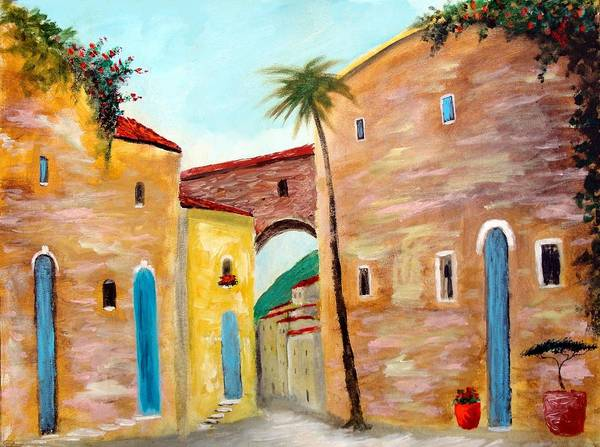 Painting - Tuscan Street by Larry Cirigliano