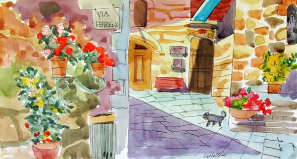 Painting - Tuscan Street Scene by Linda Novick