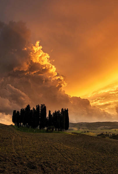 Wall Art - Photograph - Tuscan Sunset Drama by Alvin Kroon
