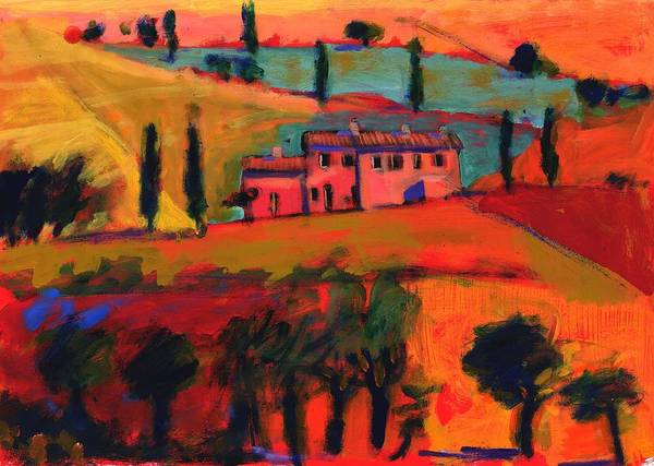 Villa Photograph - Tuscany by Paul Powis