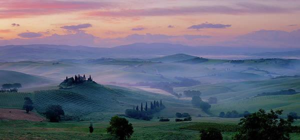 Tuscany Photograph - Tuscany Dawn by Paul Bruins Photography