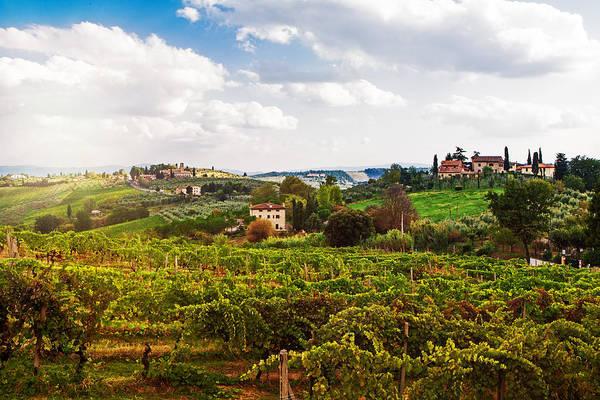 Wall Art - Photograph - Tuscany Italy Vineyard And Countryside by Susan Schmitz