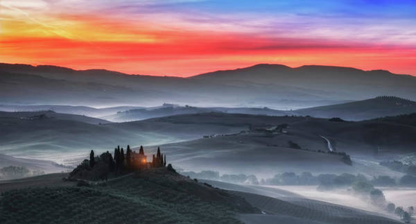 Farmhouse Photograph - Tuscany by Joaquin Guerola