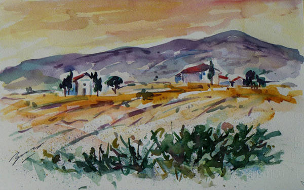 Painting - Tuscany Landscape 1 by Xueling Zou