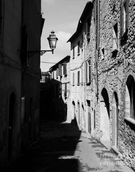 Photograph - Tuscany Shadows Bw by Mel Steinhauer