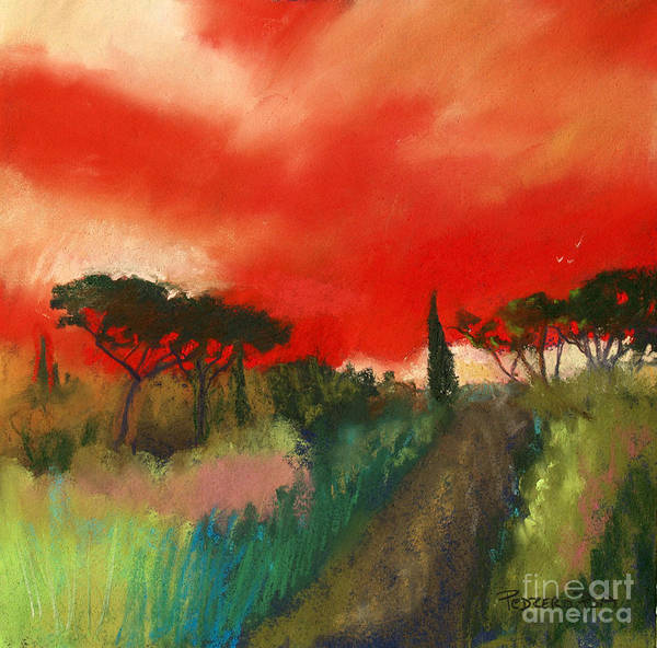 Pastel - Tuscany Trails by Robin Maria Pedrero