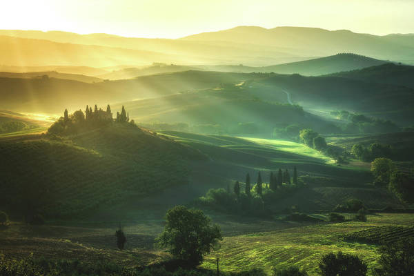 Wall Art - Photograph - Tuscany - Val D'orcia Sunrise by Jean Claude Castor