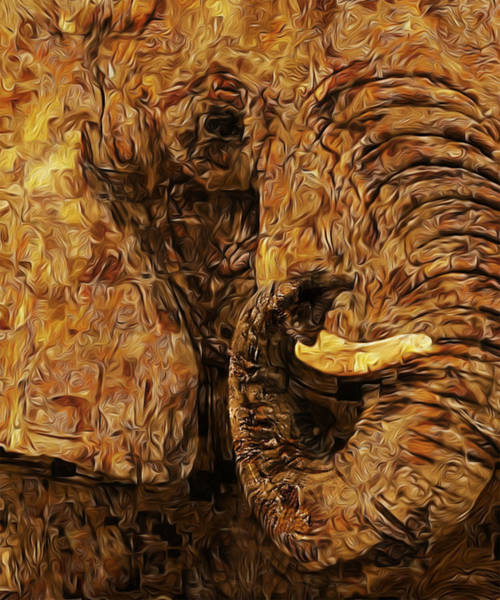 Wall Art - Painting - Tusk - Happened At The Zoo by Jack Zulli
