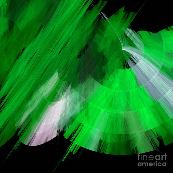 Digital Art - Tutu Stage Left Green Abstract by Andee Design