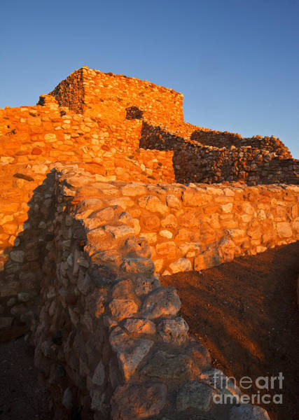 Pueblo Photograph - Tuzigoot Dawn by Mike  Dawson