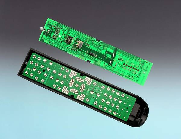 Low Battery Photograph - Tv Remote Control Components by Sheila Terry