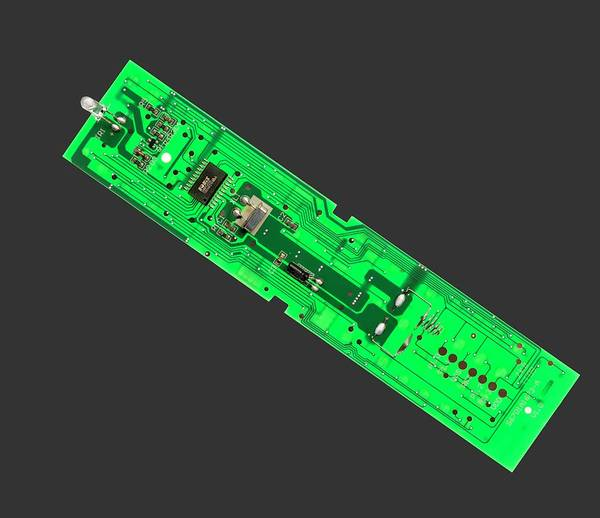 Low Battery Photograph - Tv Remote Control Printed Circuit Boar by Sheila Terry