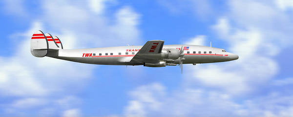 Wall Art - Photograph - Twa Constellation Airliner by Mike McGlothlen