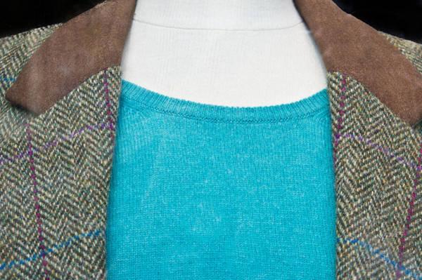 Blue Jackets Photograph - Tweed Jacket by Tom Gowanlock
