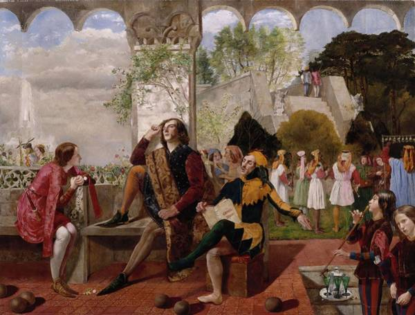 Wall Art - Painting - Twelfth Night, Act II, Scene Iv by Walter Howell Deverell