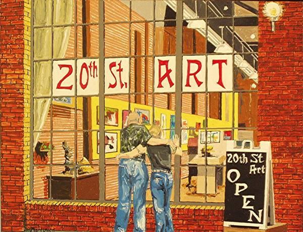 Twentieth Street Gallery Lavender Heights Version Art Print by Paul Guyer