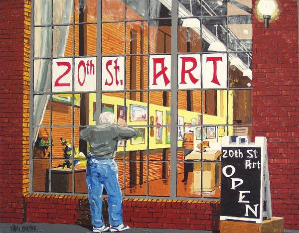 Twentieth Street Gallery Art Print by Paul Guyer
