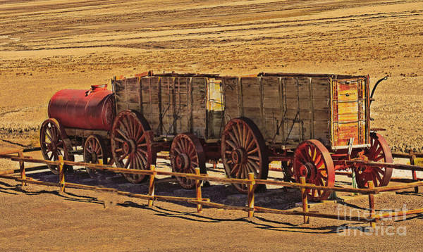 Furnace Creek Photograph - Twenty-mule Team In Sepia by Robert Bales