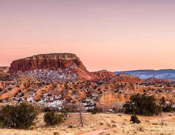 Wall Art - Photograph - Twilight At Ghost Ranch In New Mexico by Ellie Teramoto
