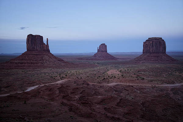 Photograph - Twilight At Monument Valley by Lucinda Walter