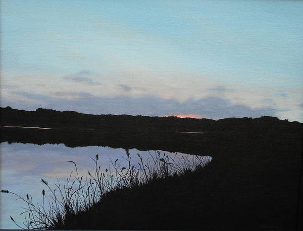 Wall Art - Painting - Twilight At Whitney by Candace Shockley