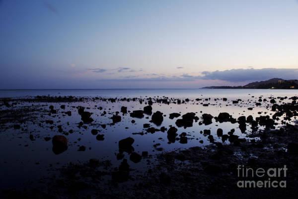 Twilight Glow Over Ocean Art Print
