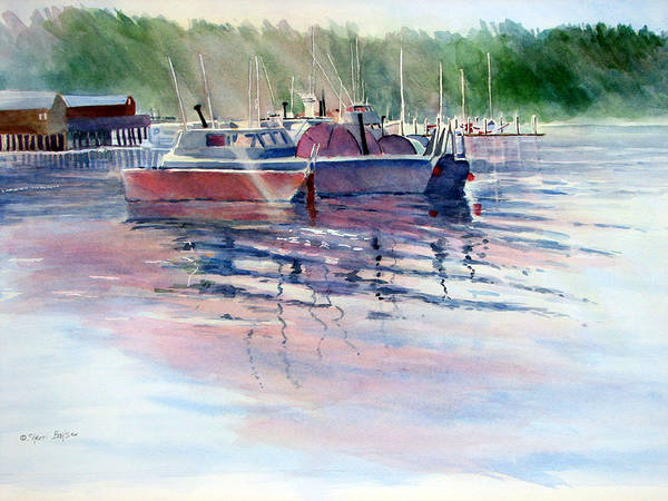 Port Townsend Painting - Twilight Harbor by Sherri Bails