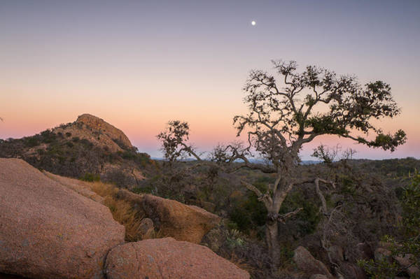 Wall Art - Photograph - Twilight Hours At Enchanted Rock State Natural Area In Texas by Ellie Teramoto