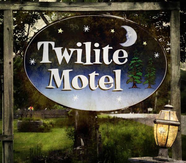 Photograph - Twilight Motel by Joan Carroll