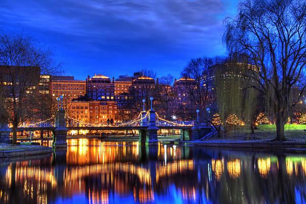 Photograph - Twilight On Lagoon Bridge by Joann Vitali