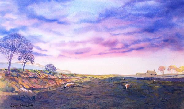 Painting - Twilight Over Cockmoor Hall by Glenn Marshall