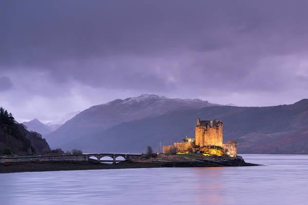 Wall Art - Photograph - Twilight Over Eilean Donan Castle On by Adam Burton / Robertharding