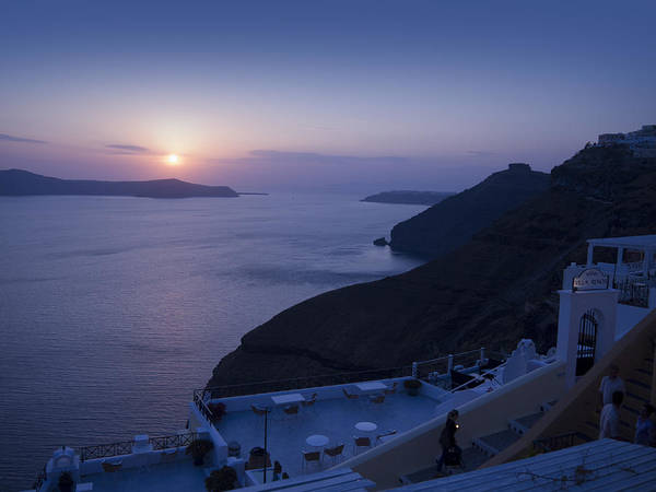 Photograph - Twilight Over The Caldera At Fira by Brenda Kean