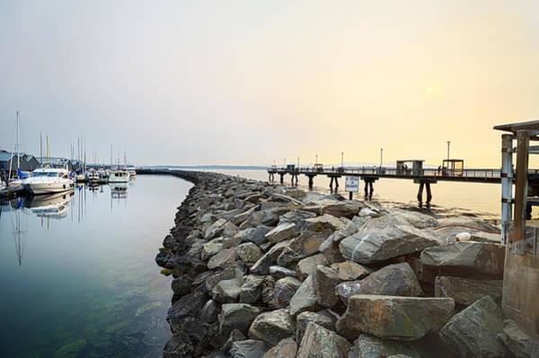 Waterbreak Wall Art - Photograph - Twilight Pier by Jo Ann Snover