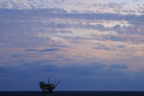 Photograph - Twilight Sky And Oil Rig by Bradford Martin