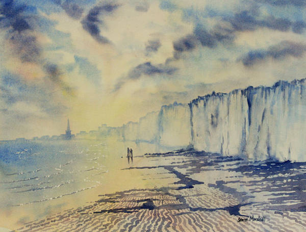 Bridlington Painting - Twilight Stroll On Bridlington Beach by Glenn Marshall