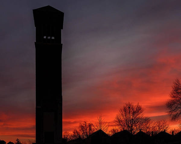 Photograph - Twilight Tower Silhouette by Chris Bordeleau