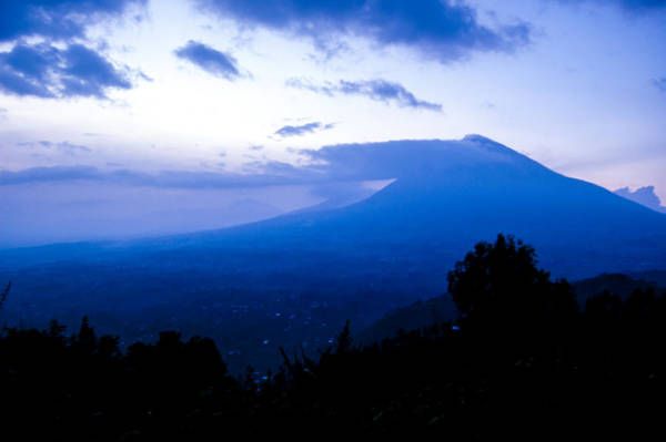 Kigali Wall Art - Photograph - Twilight Volcano by Paul Weaver