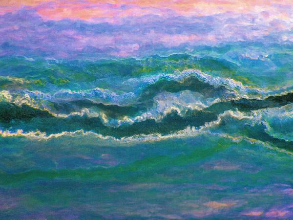 Digital Art - Twilight Waves by Rick Wicker