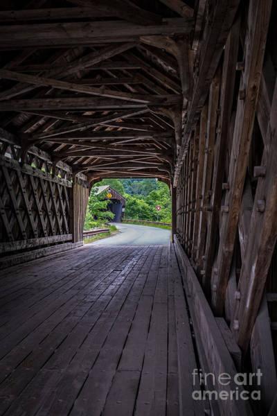 Portals Wall Art - Photograph - Twin Covered Bridges North Hartland Vermont by Edward Fielding
