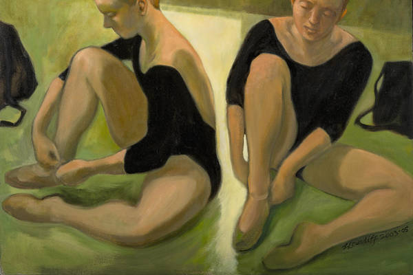 Painting - Twin Dancers by Laura Lee Cundiff