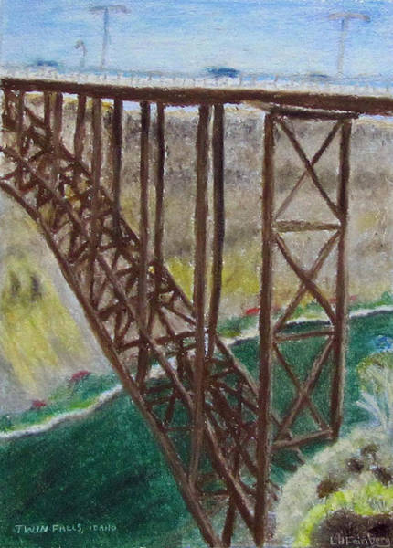 Painting - Twin Falls Idaho by Linda Feinberg