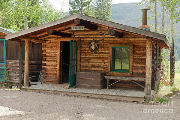 Photograph - Twin No. 1 Cabin At The Holzwarth Historic Site by Fred Stearns