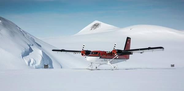Antarctica Photograph - Twin Otter Aircraft Landing by Peter J. Raymond