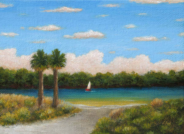 Lone Tree Painting - Twin Palms by Gordon Beck