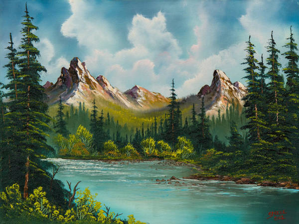 Wall Art - Painting - Twin Peaks River by Chris Steele