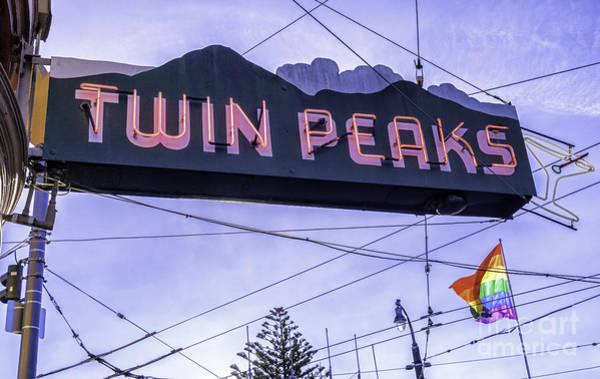 Gay Pride Flag Photograph - Twin Peaks Tavern by Jerry Fornarotto