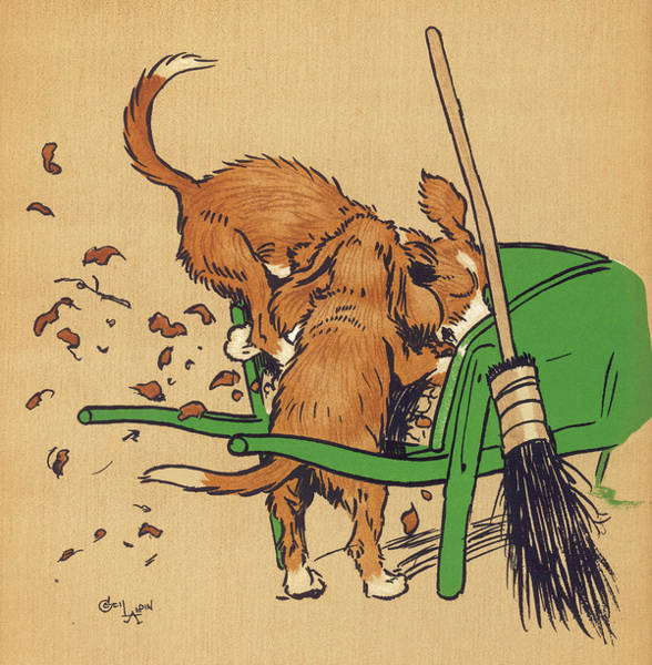 Pup Drawing - Twin Puppies, Snip And Snap,  Fight by Mary Evans Picture Library