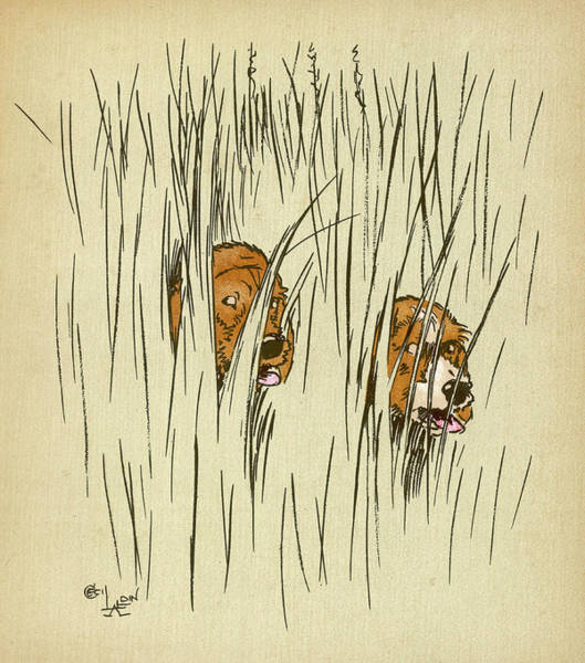 Pup Drawing - Twin Puppies, Snip And Snap,  Get Lost by Mary Evans Picture Library
